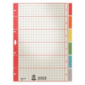 Register Blanko A4 225x300mm 6-teilig farbig bedruckt Karton Leitz 4350-00-85 Produktbild