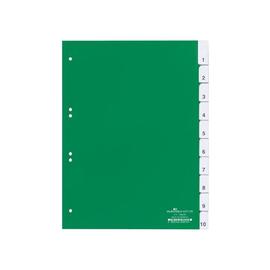 Register Blanko A4 mit Taben 230x297mm 10-teilig grün Plastik Durable 6221-05 Produktbild