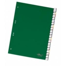 Register Blanko A4 mit Taben 230x297mm 20-teilig grün Plastik Durable 6223-05 Produktbild