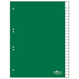 Register Blanko A4 mit Taben 230x297mm 25-teilig grün Plastik Durable 6224-05 Produktbild