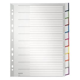 Register Blanko mit Taben A4 überbreit 238x297mm 10-teilig grau Plastik Leitz 4370-00-00 Produktbild