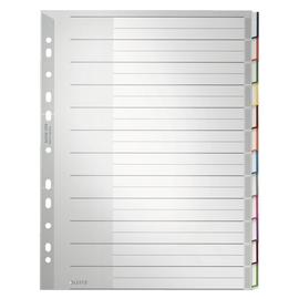 Register Blanko mit Taben A4 extra groß 241x305mm 12-teilig grau Plastik Leitz 1273-00-00 Produktbild