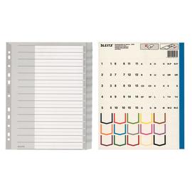 Register Blanko mit Taben A4 überbreit 238x297mm 15-teilig grau Plastik Leitz 1276-00-00 Produktbild