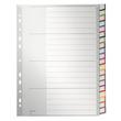 Register Blanko mit Taben A4 überbreit 238x297mm 20-teilig grau Plastik Leitz 1278-00-00 Produktbild