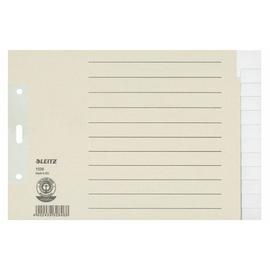 Register Blanko A5 quer überbreit 240x160mm 12-teilig grau Papier Leitz 1226-00-85 Produktbild