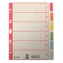 Register Blanko A5 165x210mm 6-teilig farbig bedruckt Karton Leitz 4355-00-85 Produktbild