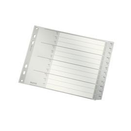 Register Monate A4 halbe Höhe überbreit 238x180mm Dez-Jan grau Plastik Leitz 1288-00-85 Produktbild