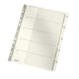 Register A4 225x297mm Zahlen 1-5 grau Karton Leitz 4323-00-00 Produktbild