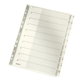Register A4 225x297mm Zahlen 1-10 grau Karton Leitz 4324-00-00 Produktbild