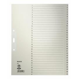 Register A4 überbreit 240x300mm Zahlen 1-31 grau Papier Leitz 1231-00-85 Produktbild