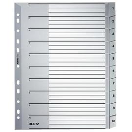 Register A4 überbreit 238x297mm Zahlen 1-10 grau Plastik Leitz 1280-00-00 Produktbild
