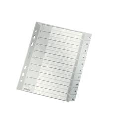 Register A5 hoch 165x210mm Zahlen 1-10 grau Plastik Leitz 1285-00-00 Produktbild