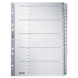 Register A4 225x297mm Zahlen 1-20 grau Karton Leitz 4326-00-00 Produktbild