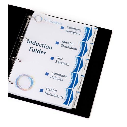 Register Inkjet+Laser+Kopier bedruckbar Blanko A4 12-teilig weiß Zweckform 1640061 Produktbild Additional View 1 L