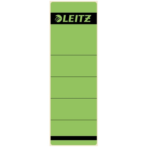 Rückenschilder für Handbeschriftung 61,5x191mm kurz breit grün selbstklebend Leitz 1642-00-55 (BTL=10 STÜCK) Produktbild Front View L