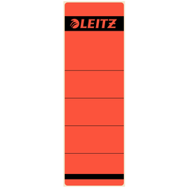 Rückenschilder für Handbeschriftung 61,5x191mm kurz breit rot selbstklebend Leitz 1642-00-25 (BTL=10 STÜCK) Produktbild
