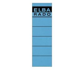 Rückenschilder für Handbeschriftung 59x190mm kurz breit blau selbstklebend Elba 100420952 (BTL=10 STÜCK) Produktbild