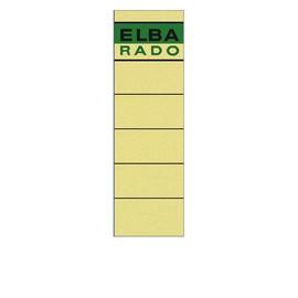 Rückenschilder für Handbeschriftung 59x190mm kurz breit chamois selbstklebend Elba 100420953 (BTL=10 STÜCK) Produktbild