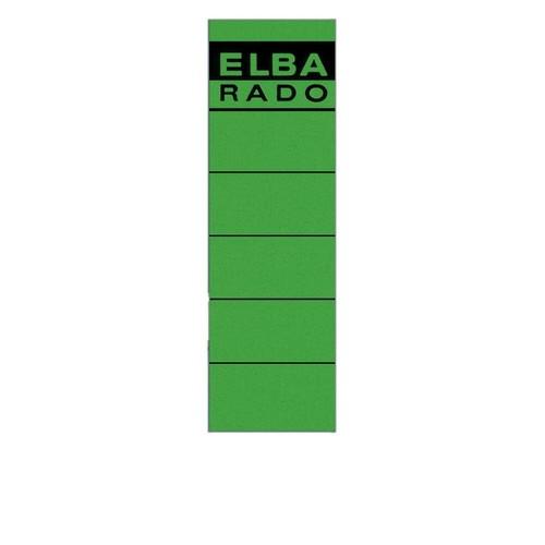 Rückenschilder für Handbeschriftung 59x190mm kurz breit grün selbstklebend Elba 100420948 (BTL=10 STÜCK) Produktbild