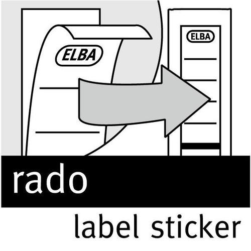 Rückenschilder für Hängeordner 81414 290x34mm extra schmal weiß selbstklebend Elba 100420959 (BTL=10 STÜCK) Produktbild Additional View 2 L