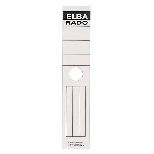 Rückenschilder für Hängeordner 81414 290x34mm extra schmal weiß selbstklebend Elba 100420959 (BTL=10 STÜCK) Produktbild Additional View 1 L