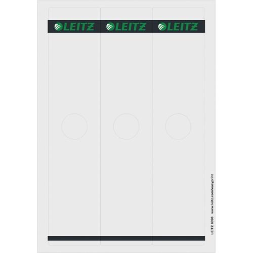 Rückenschilder für Hängeordner zum Bedrucken 61x279mm lang breit grau selbstklebend Leitz 6098-00-85 (PACK=75 STÜCK) Produktbild Front View L