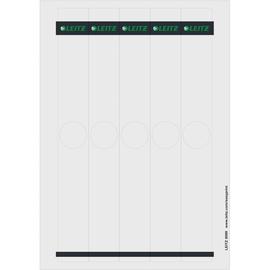 Rückenschilder für Hängeordner zum Bedrucken 34x279mm lang schmal grau selbstklebend Leitz 6099-00-85 (PACK=125 STÜCK) Produktbild