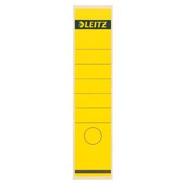 Rückenschilder für Handbeschriftung 61,5x285mm lang breit gelb selbstklebend Leitz 1640-00-15 (BTL=10 STÜCK) Produktbild