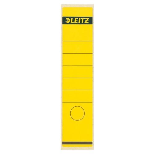 Rückenschilder für Handbeschriftung 61,5x285mm lang breit gelb selbstklebend Leitz 1640-00-15 (BTL=10 STÜCK) Produktbild Front View L