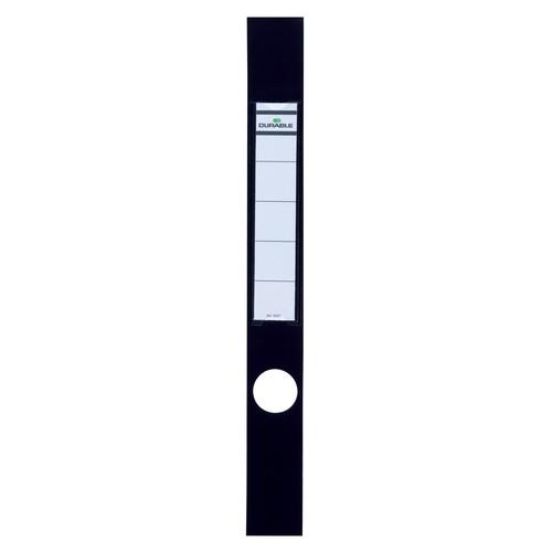 Rückenschilder mit Einsteckschild Ordofix 40x390mm lang schmal schwarz selbstklebend Durable 8091-01 (BTL=10 STÜCK) Produktbild