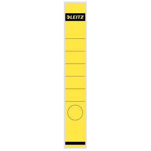 Rückenschilder für Handbeschriftung 39x285mm lang schmal gelb selbstklebend Leitz 1648-00-15 (BTL=10 STÜCK) Produktbild Front View L