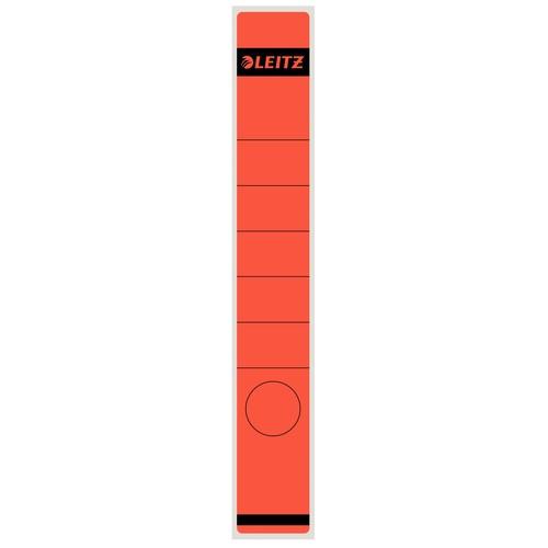 Rückenschilder für Handbeschriftung 39x285mm lang schmal rot selbstklebend Leitz 1648-00-25 (BTL=10 STÜCK) Produktbild Front View L