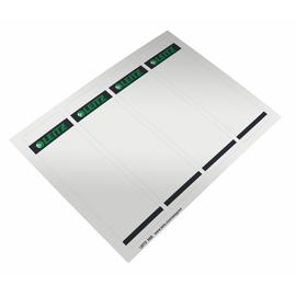 Rückenschilder zum Bedrucken 61x192mm kurz breit grau selbstklebend Leitz 1685-00-85 (PACK=400 STÜCK) Produktbild