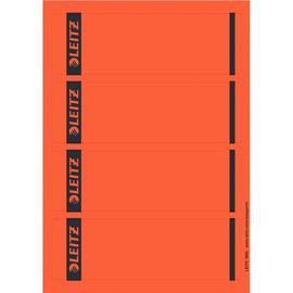 Rückenschilder zum Bedrucken 61x192mm kurz breit rot selbstklebend Leitz 1685-20-25 (PACK=100 STÜCK) Produktbild