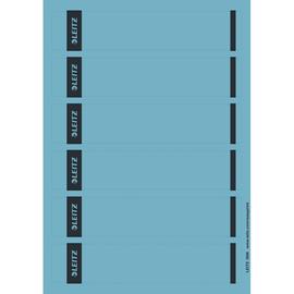 Rückenschilder zum Bedrucken 39x192mm kurz schmal blau selbstklebend Leitz 1686-20-35 (PACK=150 STÜCK) Produktbild