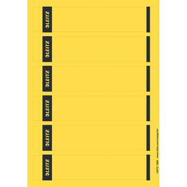 Rückenschilder zum Bedrucken 39x192mm kurz schmal gelb selbstklebend Leitz 1686-20-15 (PACK=150 STÜCK) Produktbild