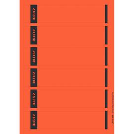 Rückenschilder zum Bedrucken 39x192mm kurz schmal rot selbstklebend Leitz 1686-20-25 (PACK=150 STÜCK) Produktbild