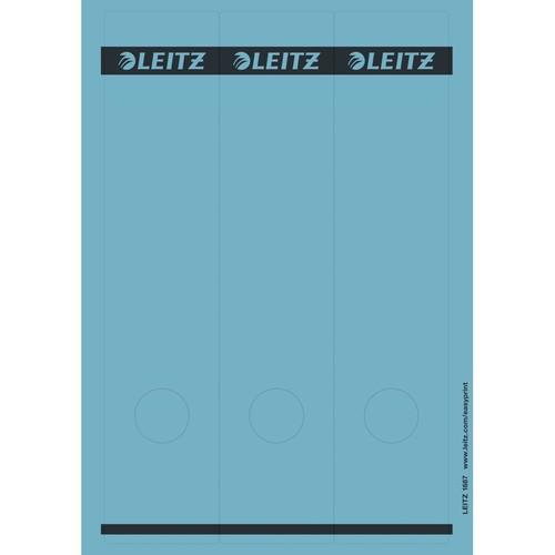 Rückenschilder zum Bedrucken 61x285mm lang breit blau selbstklebend Leitz 1687-00-35 (PACK=75 STÜCK) Produktbild Front View L