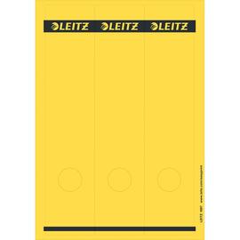 Rückenschilder zum Bedrucken 61x285mm lang breit gelb selbstklebend Leitz 1687-00-15 (PACK=75 STÜCK) Produktbild