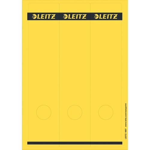 Rückenschilder zum Bedrucken 61x285mm lang breit gelb selbstklebend Leitz 1687-00-15 (PACK=75 STÜCK) Produktbild Front View L