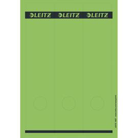 Rückenschilder zum Bedrucken 61x285mm lang breit grün selbstklebend Leitz 1687-00-55 (PACK=75 STÜCK) Produktbild