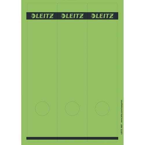 Rückenschilder zum Bedrucken 61x285mm lang breit grün selbstklebend Leitz 1687-00-55 (PACK=75 STÜCK) Produktbild Front View L
