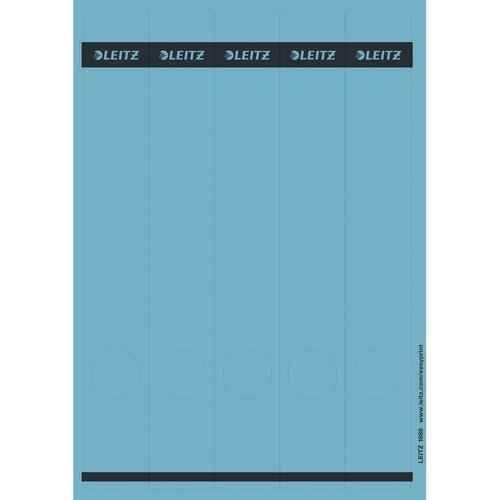 Rückenschilder zum Bedrucken 39x285mm lang schmal blau selbstklebend Leitz 1688-00-35 (PACK=125 STÜCK) Produktbild Front View L
