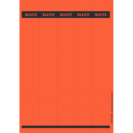 Rückenschilder zum Bedrucken 39x285mm lang schmal rot selbstklebend Leitz 1688-00-25 (PACK=125 STÜCK) Produktbild