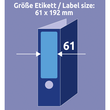 Rückenschilder zum Bedrucken 61x192mm kurz breit auf A4 Bögen blau selbstklebend Zweckform L4767-20 (PACK=80 STÜCK) Produktbild Additional View 5 S