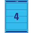 Rückenschilder zum Bedrucken 61x192mm kurz breit auf A4 Bögen blau selbstklebend Zweckform L4767-20 (PACK=80 STÜCK) Produktbild Additional View 2 S