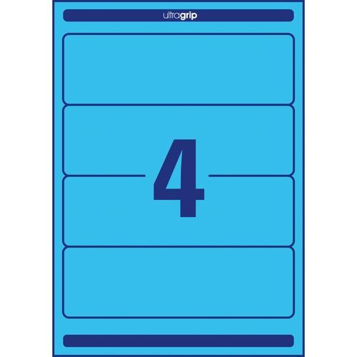 Rückenschilder zum Bedrucken 61x192mm kurz breit auf A4 Bögen blau selbstklebend Zweckform L4767-20 (PACK=80 STÜCK) Produktbild Additional View 2 L