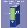Rückenschilder zum Bedrucken 61x192mm kurz breit auf A4 Bögen grün selbstklebend Zweckform L4768-20 (PACK=80 STÜCK) Produktbild Additional View 6 S
