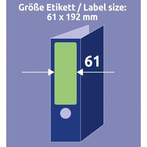 Rückenschilder zum Bedrucken 61x192mm kurz breit auf A4 Bögen grün selbstklebend Zweckform L4768-20 (PACK=80 STÜCK) Produktbild Additional View 6 L