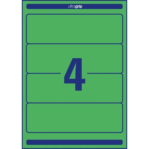 Rückenschilder zum Bedrucken 61x192mm kurz breit auf A4 Bögen grün selbstklebend Zweckform L4768-20 (PACK=80 STÜCK) Produktbild Additional View 2 L
